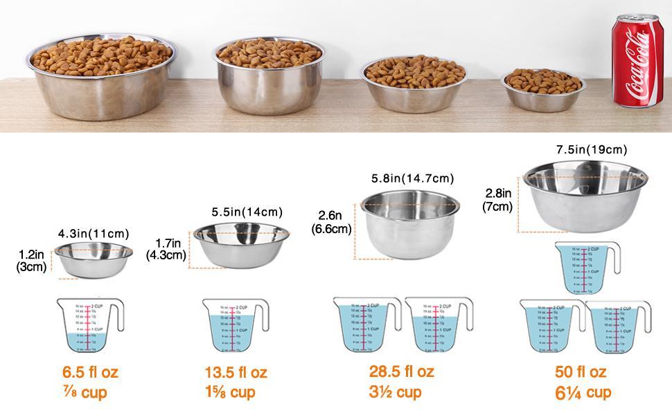size chart of ldog bowls