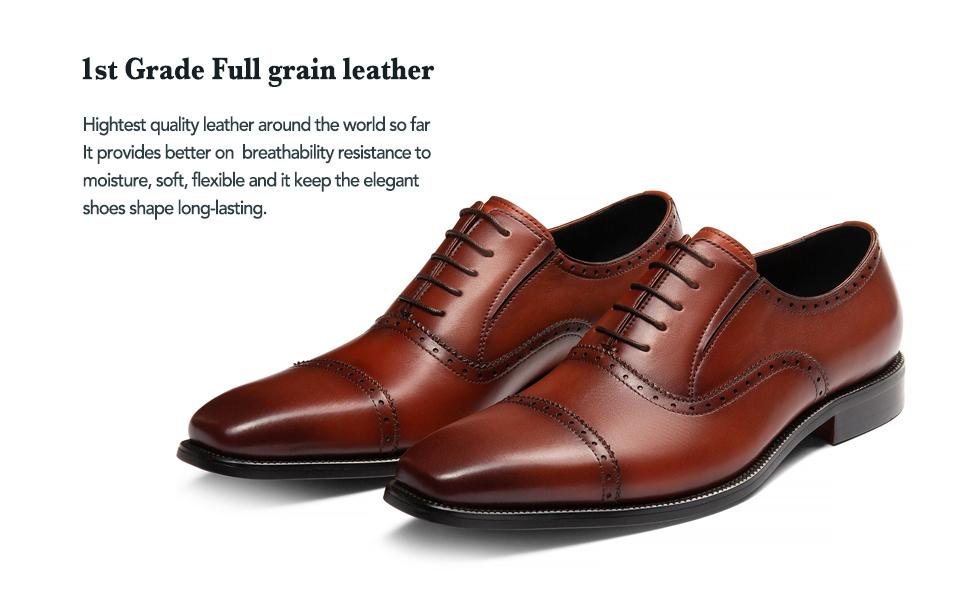 Top grade full grain Leather