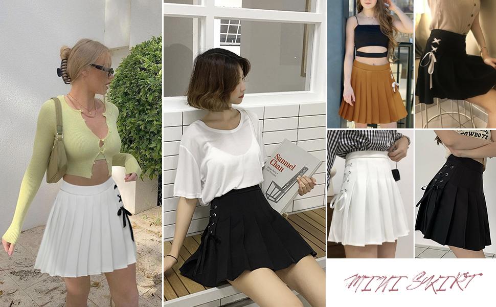 pleated skirts mini