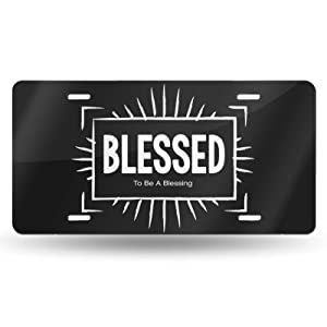blessed theme license plate