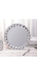 Jeweled rim Charger Plates