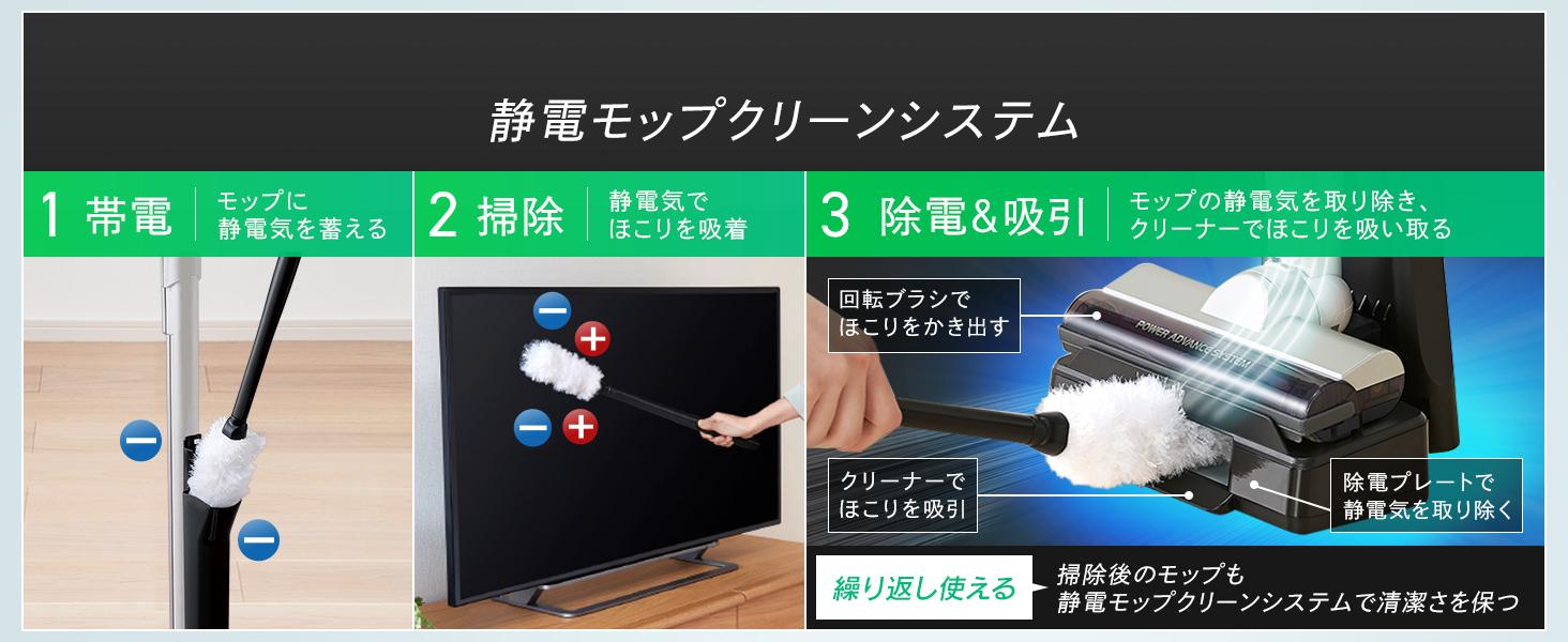 静電モップクリーンシステム
