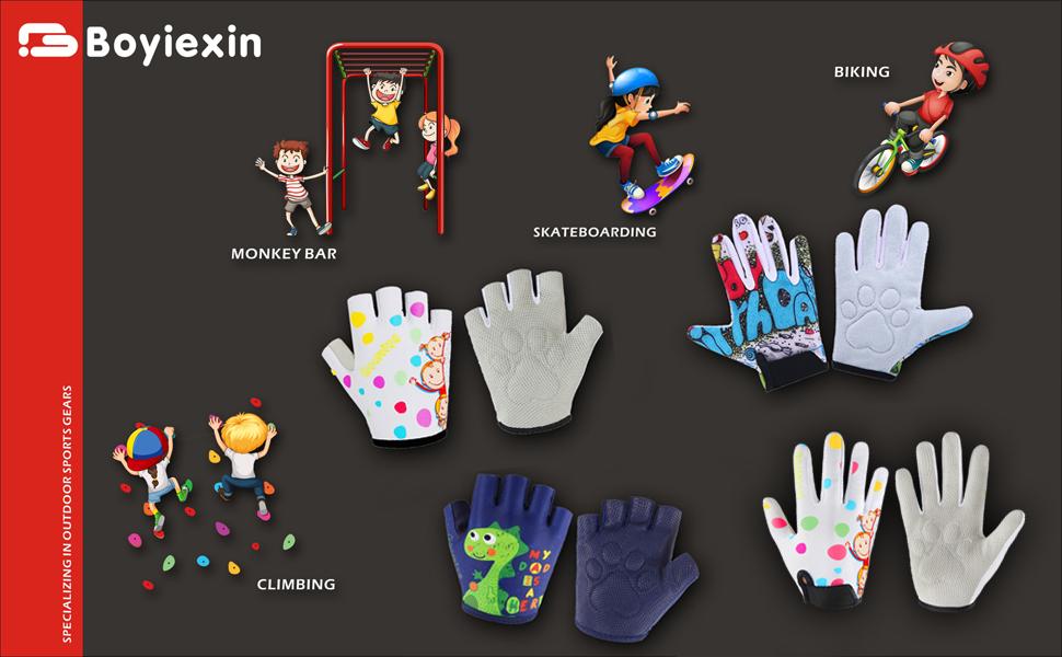 kids climbing gloves