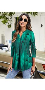 peacock blue shirts for women