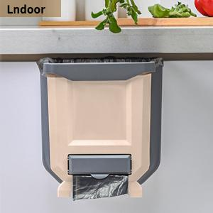 kitchen hanging trash can collapsible