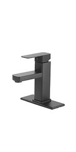 Black Bathroom Faucet 1 or 3 Hole Bathroom Faucet Single Handle Bathroom Faucet