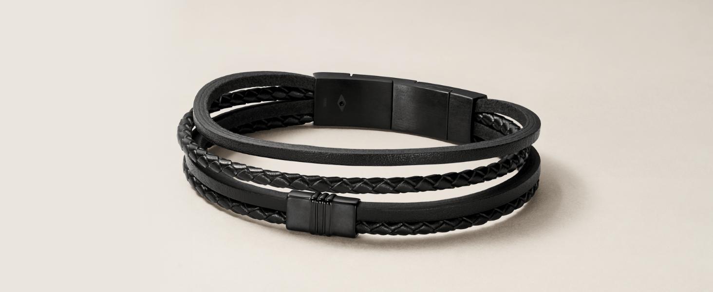 Multi-Strand Leather Bracelet
