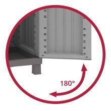 ouverture 180 degrés armoire basse