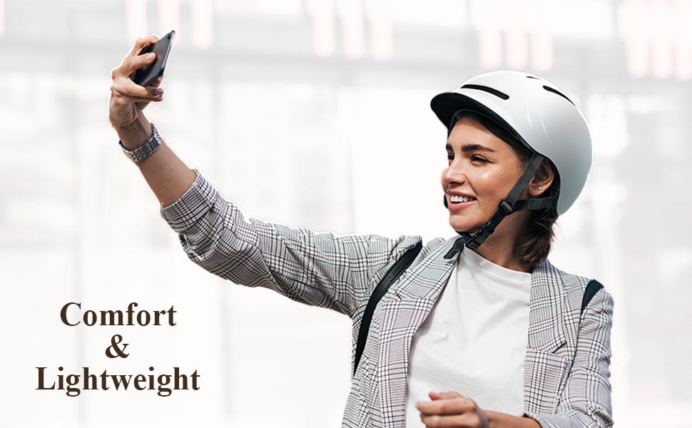 Adult bike helmet for women and men