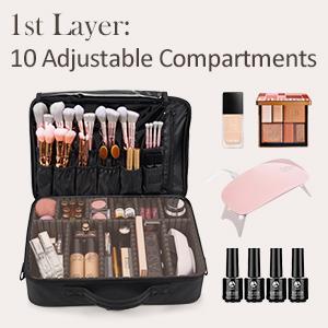3 layers makeup case