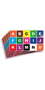 Multicolor Vinyl Letters Stickers