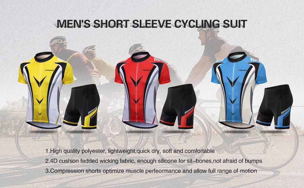 Men's bike clothing set