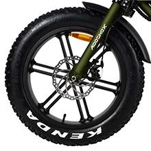 Front wheel electric bike