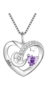 Personalized Mother necklace with Birthstone Engraved Name
