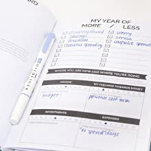 bloom undated monthly budget planner