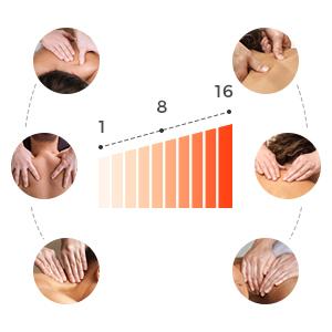 6 massage modes