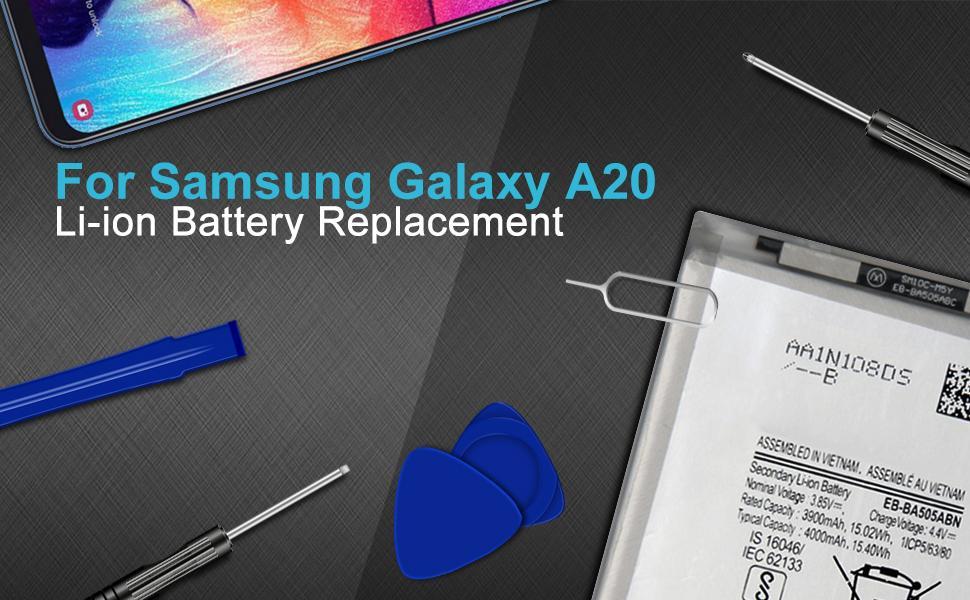 A20 SM-A205U SM-A205UZKATMB,EB-BA505ABN Replacement Battery