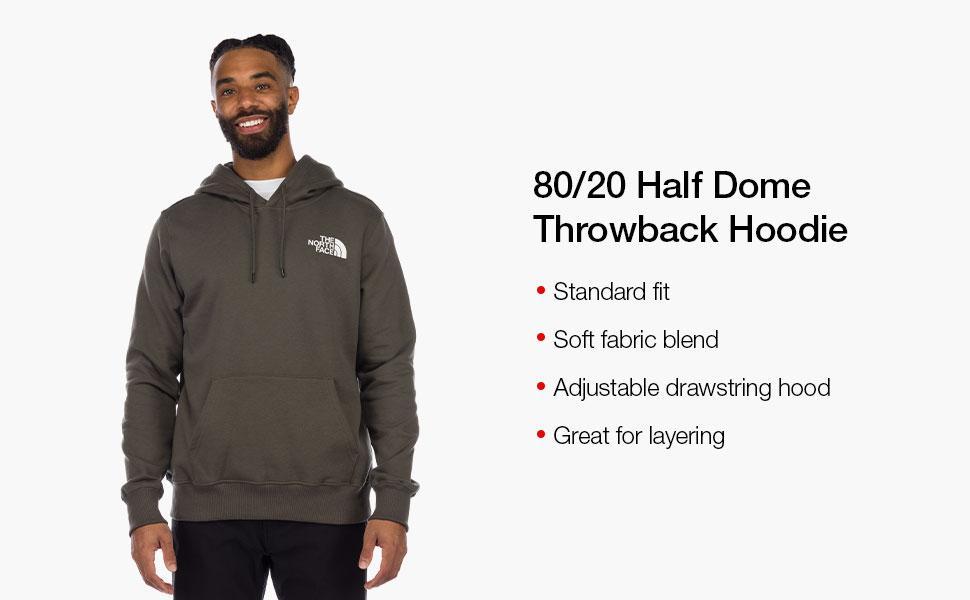 half dome throwback hoodie, half dome hoodie, exclusive, men's hood, casual, lounge