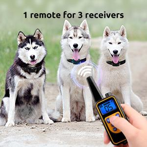 1 remote for 3 receivers