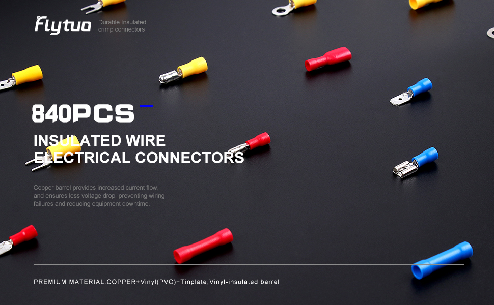 840PCS Insulated Wire Electrical Connectors