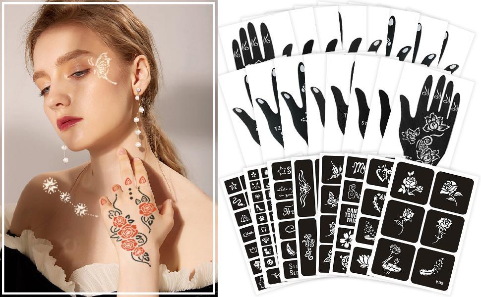 Henna Tattoo Stencils