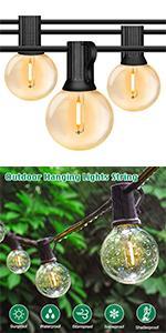 G40 Globe LED String Lights