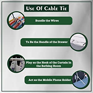 Variable use of Cable Ties