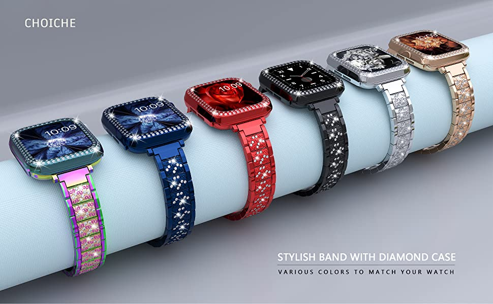 bling apple watch band