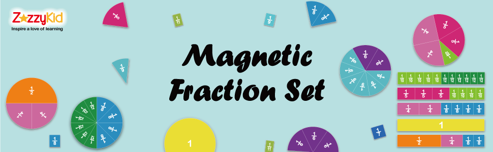 Fraction magnets used for math class