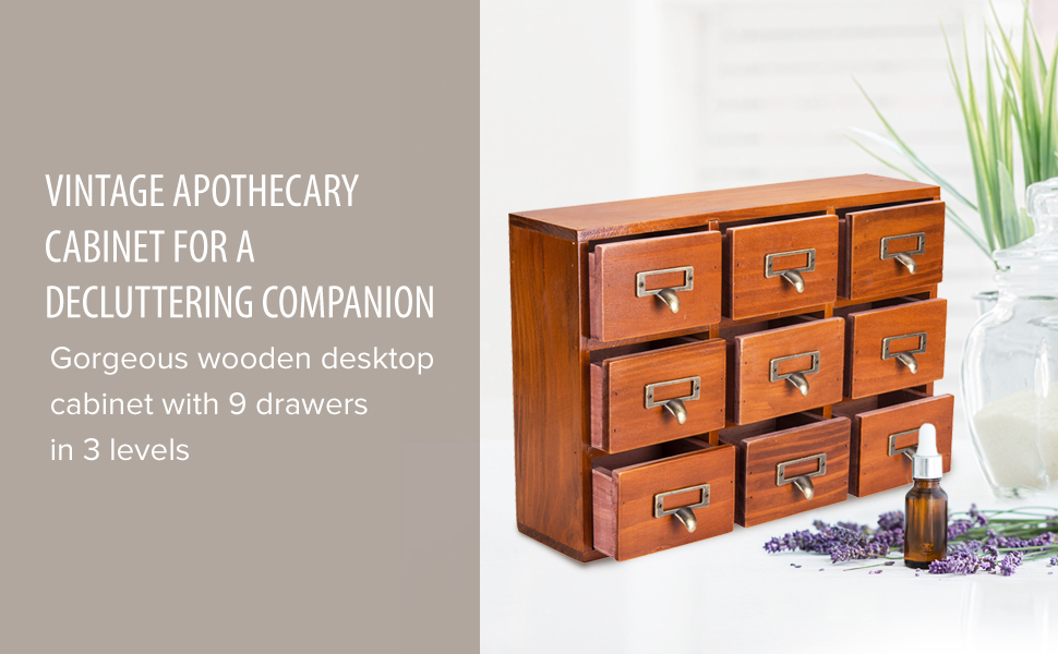 Wood Desk organizer Desk organizers accessories Apothecary cabinet Storage drawers Chest of drawers