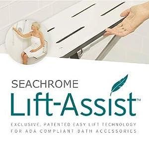 list assist, shower bench seat, folding shower seat, transfer shower bench, transfer shower seat,ada