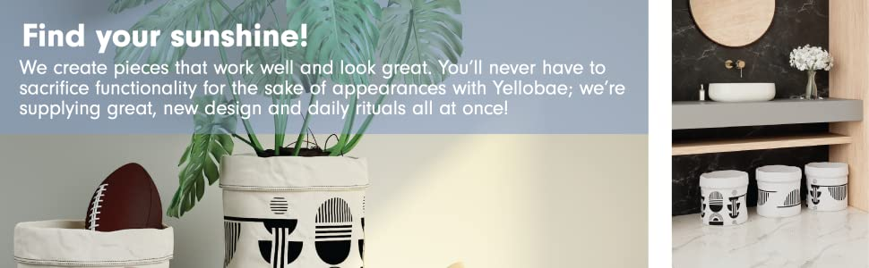 yellobae storage bag in washroom - storage bag with plant and other stuff