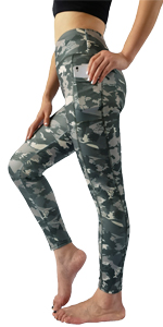 camo yoga pants with pockets for women