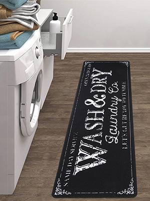 Laundry Room Rug Waterproof Cushioned Kitchen Floor Mat
