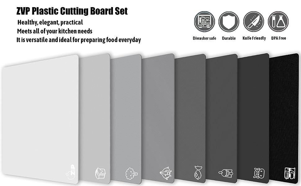 ZVP gradient pink Plastic cutting board set