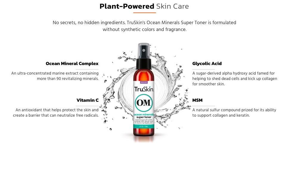 Plant-powered Ocean Minerals Super Toner ingredients
