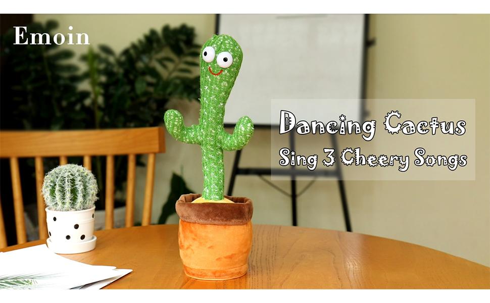 Dancing Cactus Toy - Sing 3 Cheery Songs