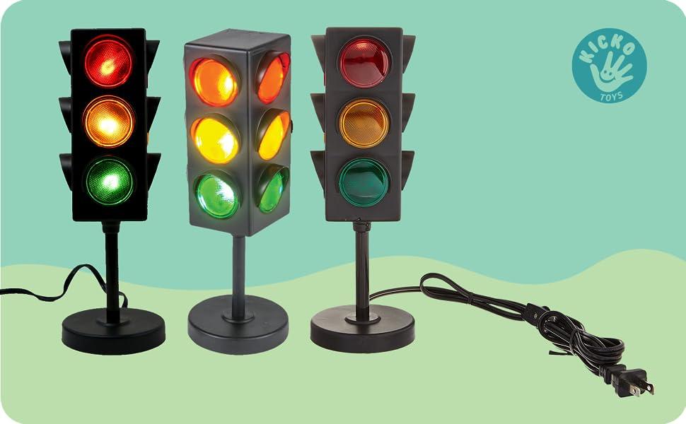 Kicko Traffic Light Lamp with Base