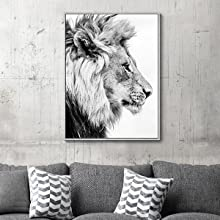 lion art for wall,