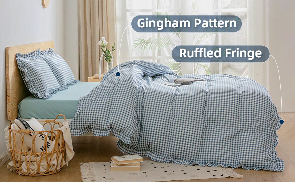 ruffled duvet cover queen size twin bed duvet covers with gingham king size blue and white cover