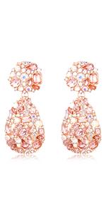 crystals rhinestone teardrop chandelier earrings