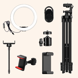 12 inch ring light with selfie stick