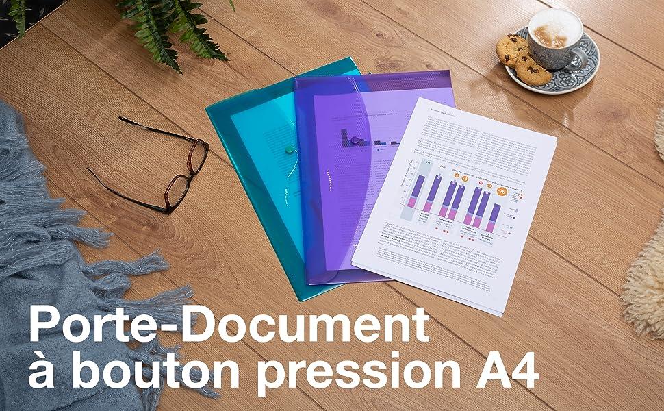 pochette souple rabat protege feuille porte document chemise enveloppe plastique dossier range