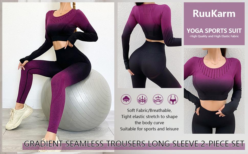 long sleeve workout set