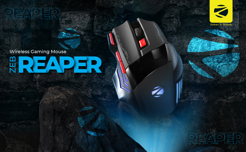 Wireless Gaming Mouse, zebronics gaming mouse, Zeb-Reaper,Zebronics Wireless Gaming Mouse
