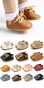 Baby Boys Girls Leather Sneakers
