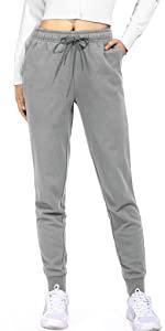 Baumwolle Jogginghose Damen Hohe Taille Sporthose
