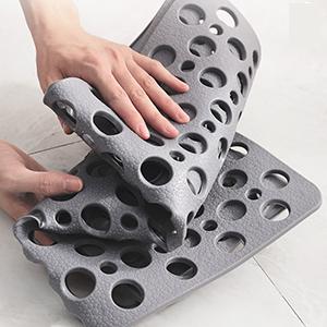 Bathtub Shower Mat Non-Slip with Suction Cups & Drain Holes Bath Mat