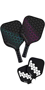 Pickleball Paddle Set with Pickleball Covers