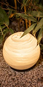 LED Glass Outdoor Table Lantern Garden Lights Waterproof Globe Ball Lights for Garden